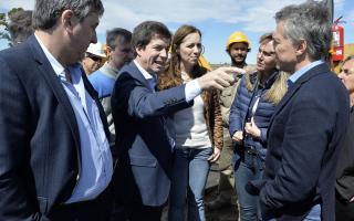 Macri y Vidal en San Miguel del Monte. Fotos: Comunicación PBA