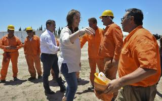 Estuvo en la obra de repavimentación y ensanche de la Ruta Provincial N°67, en Puán.