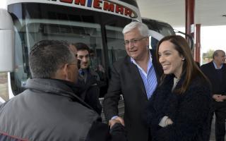 Vidal visitó la nueva Terminal de Omnibus en General Guido.