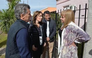 Macri y Vidal recorrieron el municipio de Lobos.