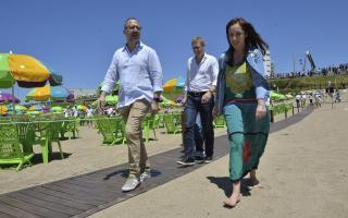 Arroyo se fue antes que empiece acto de las playas públicas con Vidal en Mar del Plata