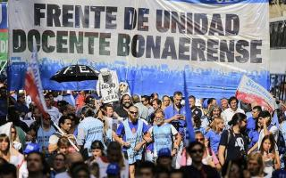 Los maestros se movilizarán en La Plata.