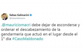 Galmarini expresó su descontento en la red social Twitter.