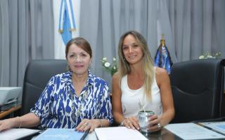 Blanca Cantero con Malena Galmarini