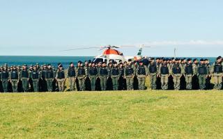 Mar del Plata: Bullrich presentó operativo de Gendarmería (Foto: @gmilman)