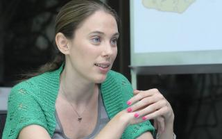 La normalizadora de la Fundación Felices los Niños, Natalia Gambaro.