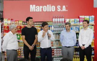 Primera visita como gobernador de Kicillof a General Rodríguez