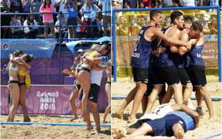 El beach handball aportó oro y bronce con varios bonaerenses en mujeres y hombres