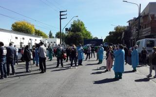 Los trabajadores del Hospital Belgrano protestaron esta semana y denunciaron falta de insumos.