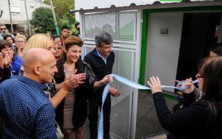 Zabaleta inauguró la Casa de la Mujer en Hurlingham.