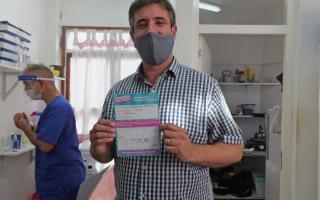 El jefe comunal se vacunó el 15 de enero