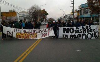Los trabajadores protestaron en la planta de Munro.