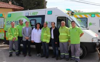 Villarino: Presentan dos ambulancias en el marco de la implementación del SAME Provincia