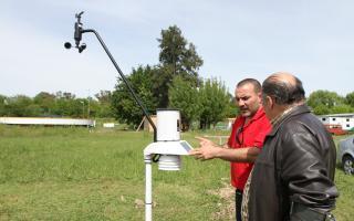 Estación meteorológica del sistema de alerta temprana de Exaltación de la Cruz