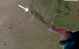 Los focos ígneos desde el espacio. Fuente: meteo.deroweb.com.ar
