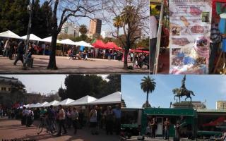 Feria en Plaza San Martín La Plata.   Foto: LaNoticia1.