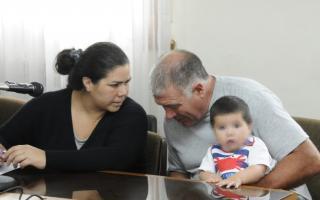 Griselda Altamiranoy Jorge Lezica, en el juicio. Foto: Rody Becchi / El Eco.