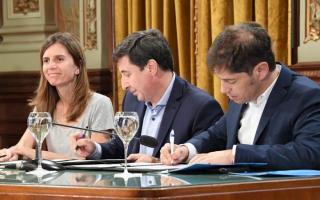 Kicillof firmó el convenio del Plan Argentina Contra el Hambre.