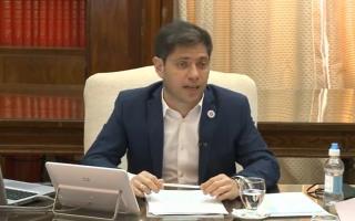 Kicillof anunció obras para 44 municipios.