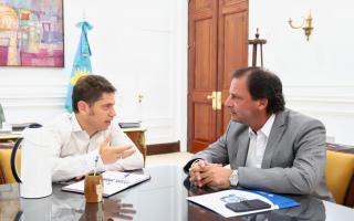 Axel Kicillof y Ariel Sujarchuk  en el encuentro de La Plata
