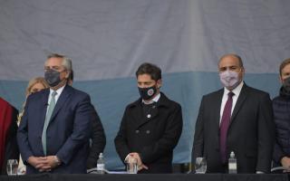 Alberto Fernández, Axel Kicillof y Juan Manzur fueron algunos de los presentes