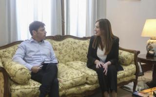 Kicillof y Vidal tuvieron una reunión para acordar la transición