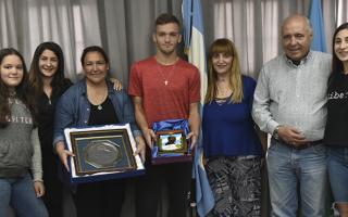 Reconocimientos en Presidente Perón a Juan Krilanovich, campeón con la selección Sub 17