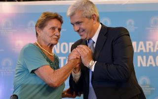 Julián Domínguez junto a María Eugenia Álvarez.