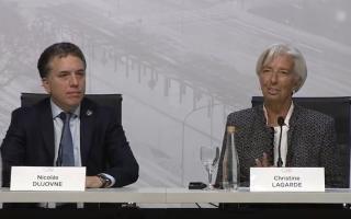 """Lagarde en Argentina: """"La economía va a mejorar hacia inicios de 2019"""""""