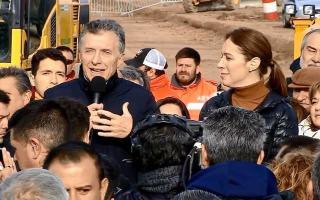 Macri y Vidal en Las Flores el 2 de julio en el anuncio de la obra: Ahora hubo despidos-
