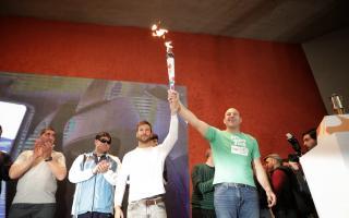 Quilmes fue el inicio del recorrido de la antorcha de los Juegos Olímpicos de la Juventud Buenos Aires 2018
