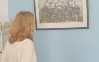 """Alejandra Lordén también festejó con la """"Academia""""."""