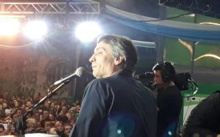 Máximo Kirchner habló ante la militancia kirchnerista,