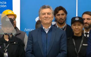 Macri en el Aeropuerto de Mar del Plata