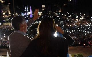 En Plaza de Mayo, después de las PASO.