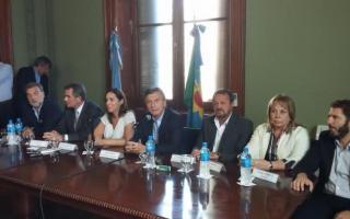 Macri presentó su bloque en la Legislatura provincial.