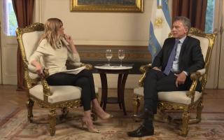 Mauricio Macri brindó una entrevista con Viviana Canosa.