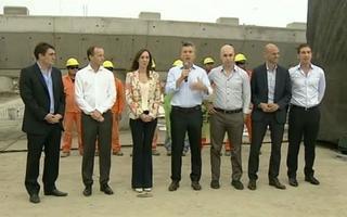Macri compartió acto con Insaurralde y Vidal.