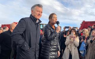 Macri y Vidal celebraron el inicio de obras en Ruta 3.