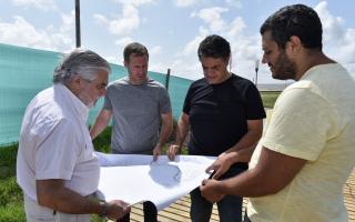 Jorge Macri supervisó las obras del Paseo de la Costa