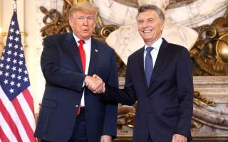 Mauricio Macri recibió a Donald Trump en Casa Rosada.