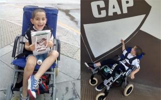 Manu tiene 6 años y es fanático de Platense.