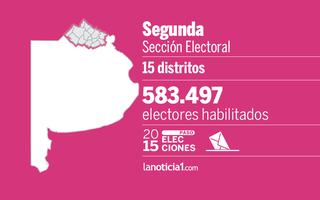 La segunda sección está integrada por 15 municipios.