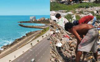 Mar del Plata, la ciudad acechada por la pobreza.