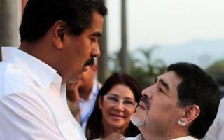 """""""No pudieron con Fidel, no pudieron con Hugo, y mucho menos con vos"""", dijo Maradona al apoyar a Nicolás Maduro"""