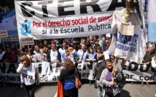Ctera anunció una marcha hacia el Ministerio de Trabajo para el miércoles 26.
