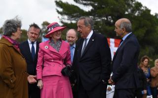 La Reina Margarita II de Dinamarca en Tandil