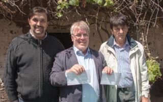 Mariano Mera, Gustavo Vera y el intendente Juan Carlos Gasparini