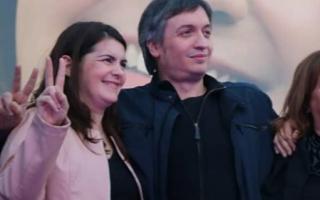 Mariel Fernández, en un acto junto a Máximo Kirchner.