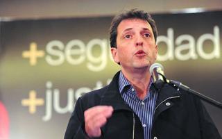 Sergio Massa, precandidato a Presidente.